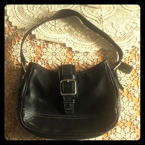 Well loved Black leather Coach bag